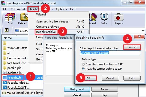 Focusky打开工程时提示工程文件被破坏或者打开空白的解决方案