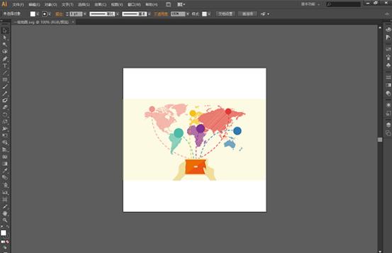 Focusky导入SVG后,出现选择边框跟SVG大小位置不一样